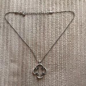 Reversible, silver Brighton necklace!